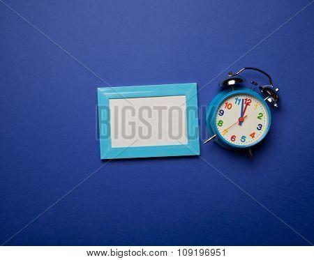 Retro Alarm Clock And Photo Frame