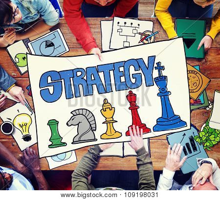 Strategy Business Solution Chess Smart Complex Solution Win Concept