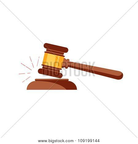 Vector gavel isolated icon