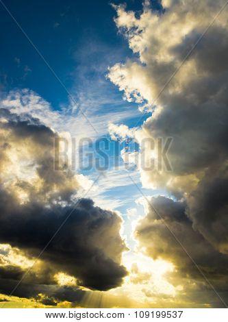 Light and Dark Spectacular Cloudscape