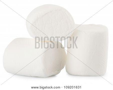 Closeup Image Of Three Marshmallows