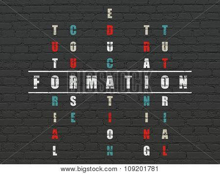 Studying concept: Formation in Crossword Puzzle