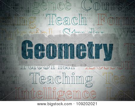 Studying concept: Geometry on Digital Paper background