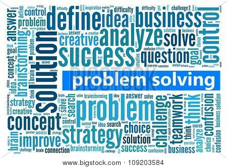 Problem Solving in word collage