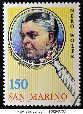 SAN MARINO - CIRCA 1979: A stamp printed in San Marino shows Nero Wolfe circa 1979