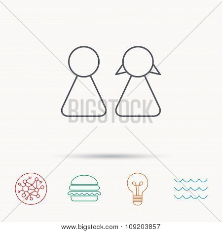 Young couple icon. Male and female sign.