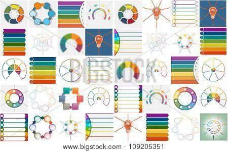 Vector 40 Templates Infographics Cyclic Processes