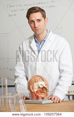 Portrait Of Biology Teacher In Class
