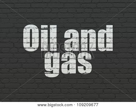 Industry concept: Oil and Gas on wall background
