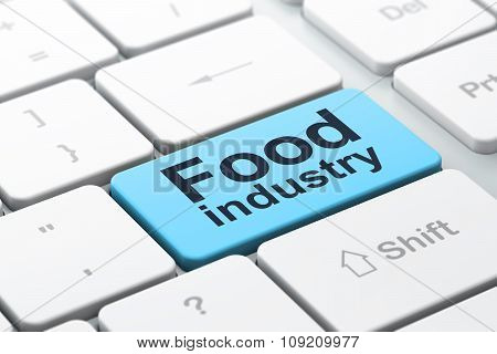 Industry concept: Food Industry on computer keyboard background