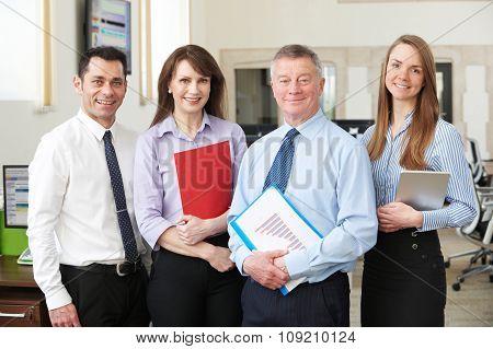 Portrait Of Business Team In Modern Office
