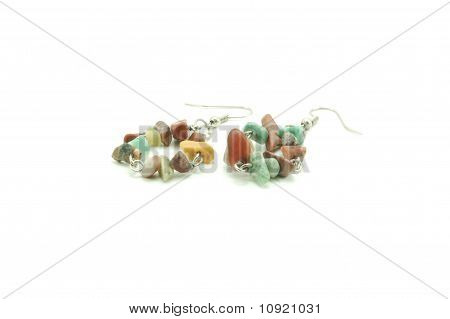 assorted colors round earrings