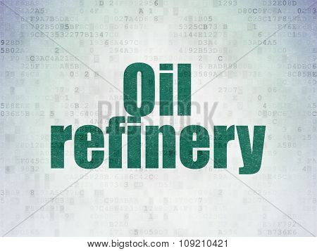 Manufacuring concept: Oil Refinery on Digital Paper background