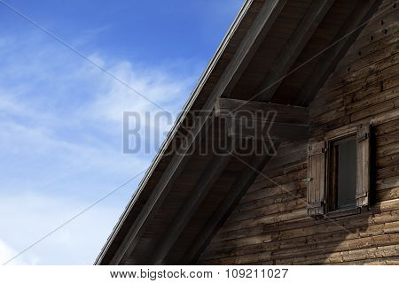 Roof Of Old Wooden Hotel