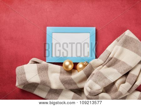 Scarf And Photo Frame