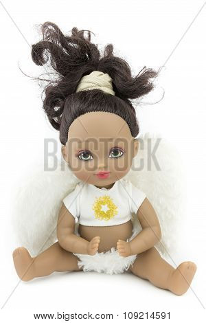 Black Skin Doll Isolate Background