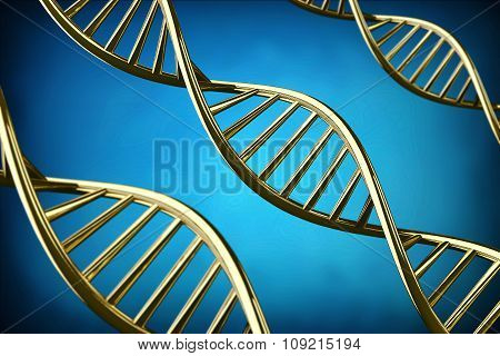 3D DNA Helix Background.