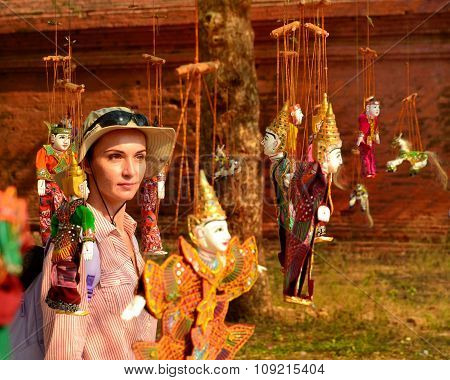 Myanmar String Puppet For Sale At A Temple In Bagan