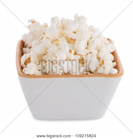 Popcorn In A White Bowl