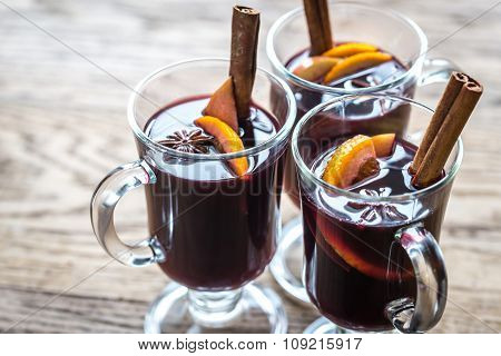 Glasses Of Mulled Wine