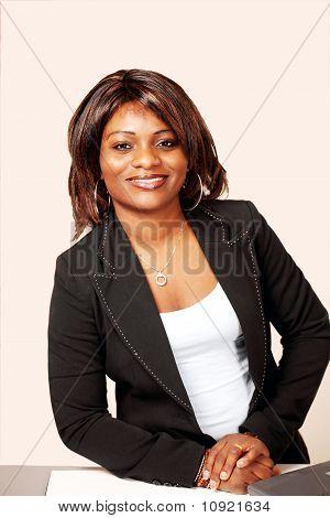 Smiling Bank Teller Or Receptionist