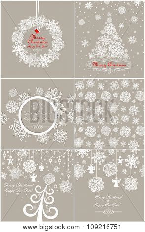 Paper pastel design for winter holidays