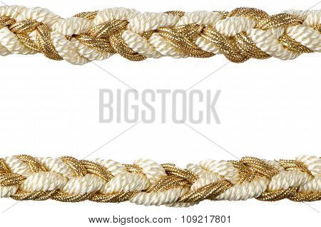 Golden Rope Curtain Tassels