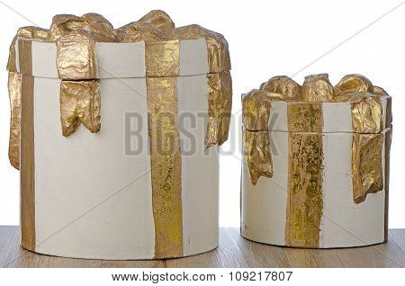 Christmas Decorative White Gift Boxes