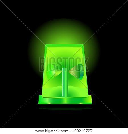 Green Flashing Siren