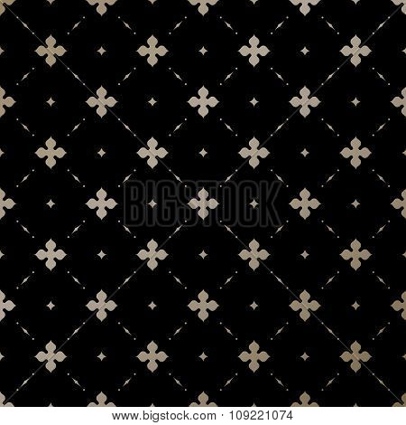 Seamless vector gold English pattern on a black background