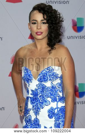 LAS VEGAS - NOV 19:  Raquel Sofia at the 16th Latin GRAMMY Awards at the MGM Grand Garden Arena on November 19, 2015 in Las Vegas, NV