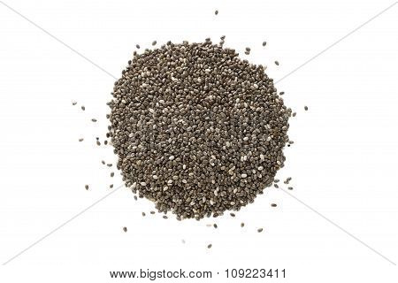 Black Chia Seeds From Above