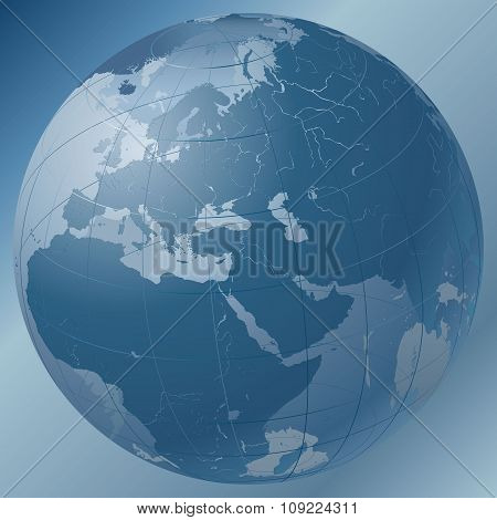World Globe Blue
