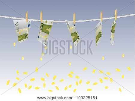 Background With Melting Money