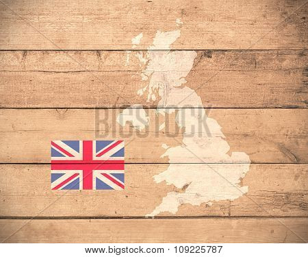 Map Of United Kingdom - Elements of this image furnished by NASA