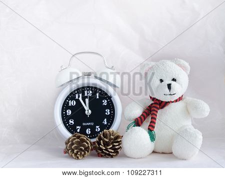 Alarm Clock And Teddy Bear