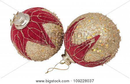 Christmas Two Gold Balls