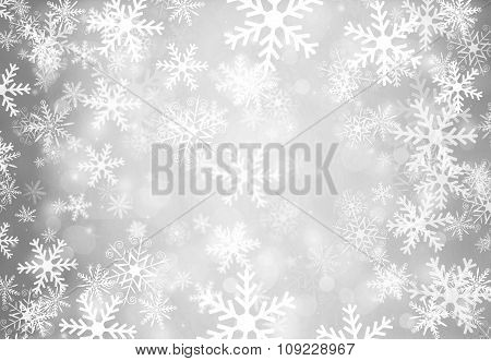 Christmas Background With Snowflakes.