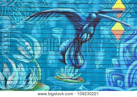 Mural hummingbird