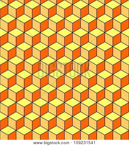 Seamless pattern with optical illusion effect. Geometric texture. Vector art.