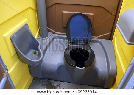 Inside a Portable Toilet