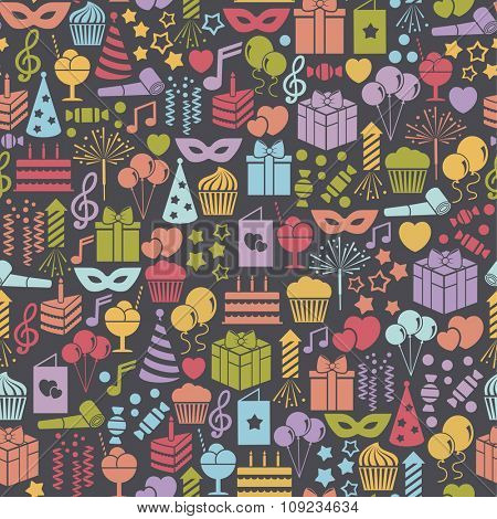 seamless pattern with party icons