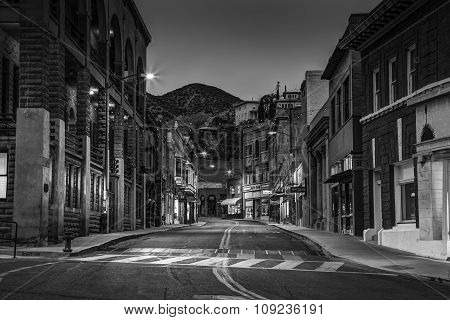 Old Town Bisbee Arizona In Black And White