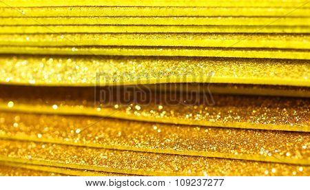 Golden Paper Glitter For Decorations