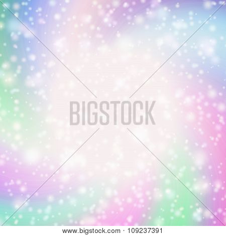 Pastel Colored Star-burst Background