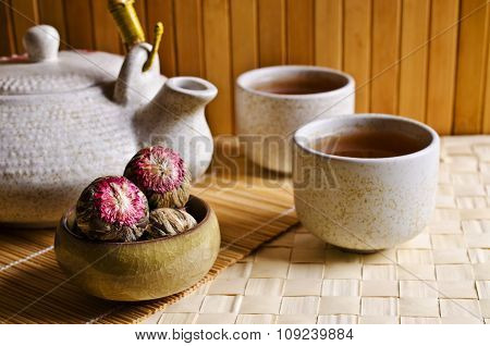 Round Green Tea