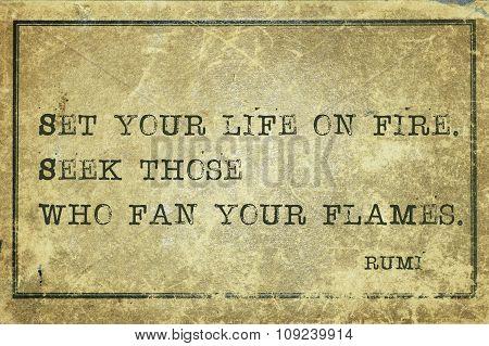On Fire Rumi