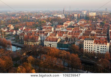 Autumn in Old Town of Klaipeda, Lithuania