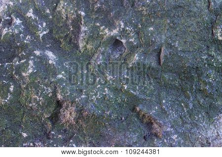Old Moss-covered Stone, Patina, Cracked, Background, Texture.