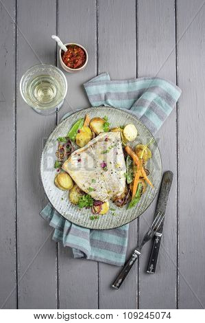 Codfish filet with Vegetable